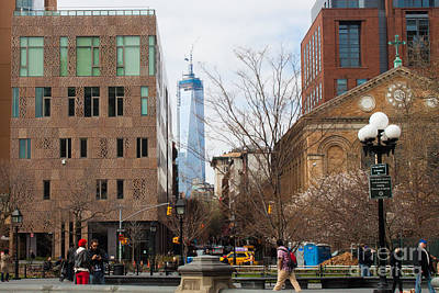 Freedom Tower From Washington Square Art Print by Thomas Marchessault