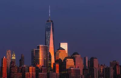 New York City Skyline Photograph - Freedom Tower Glow II by Susan Candelario