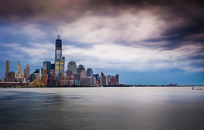 Freedom Tower Over The Hudson Art Print by Chris Halford