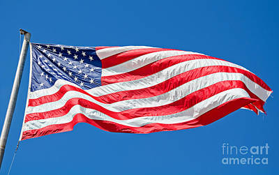 Photograph - Freedom American Flag Art Prints by Valerie Garner