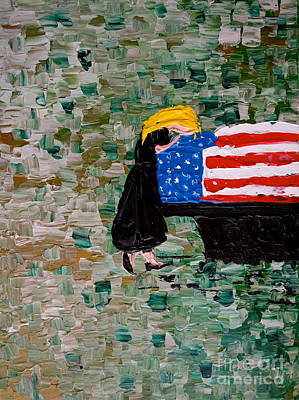 The Complex Painting - Freedoms Widow by Jacqueline Athmann