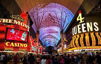 Freemont Street Experience - Downtown Las Vegas Art Print