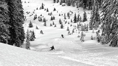 Winter Trees Photograph - Freeriders by Marcel Rebro