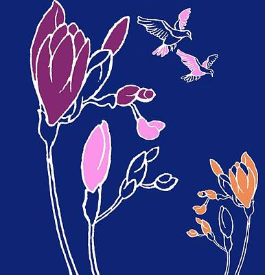 Botany Mixed Media - Freesia by Anna Platts