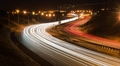 Photograph - Freeway At Night by Tin Lung Chao