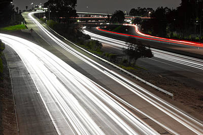 Photograph - Freeway Lights  by Rollie Robles