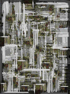 Urban Canyon Digital Art - Freeway Park 10 by Tim Allen