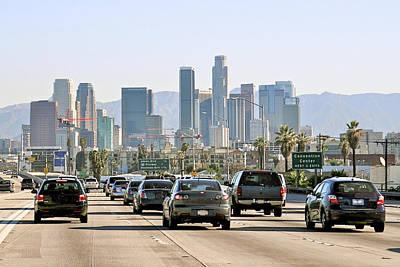Photograph - Freeway Through South Los Angeles by Karol Franks