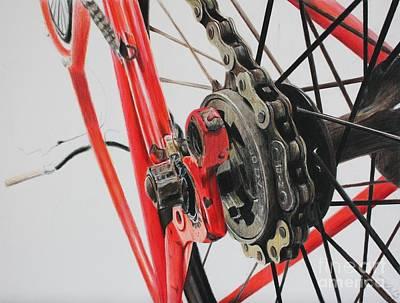 Bike Drawing - Freewheel by Joshua Navarra