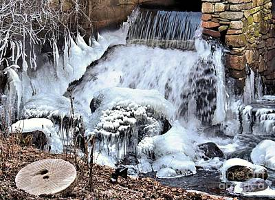 Photograph - Freeze At Plimoth Grist Mill by Janice Drew