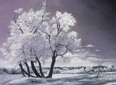 Art Print featuring the painting Freeze by Sorin Apostolescu