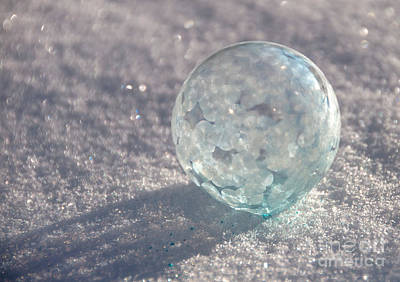 Photograph - Freezing Bubble by Cheryl Baxter