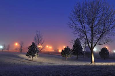 Freezing Morning In Watertown Art Print
