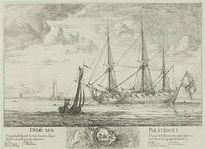 Fregat Pollux Bij Het Wachtschip In De Schelde Art Print by Anonymous