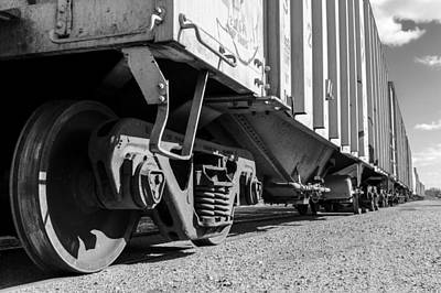 Boxcar Photograph - Big Train Rolling by Jim Hughes
