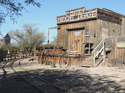 Freight Depot Art Print by Gordon Beck