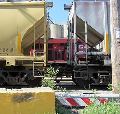 Photograph - Freight Train Cars 2 by Anita Burgermeister