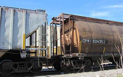 Photograph - Freight Train Cars 3 by Anita Burgermeister