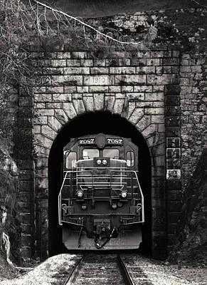 Brakeman Photograph - Freight Train Coming Through by Daniel Hagerman