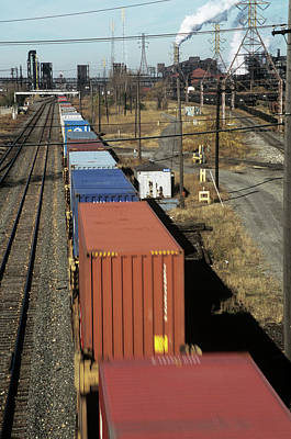 Freight Train Photograph - Freight Train by David Hay Jones/science Photo Library
