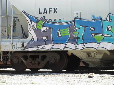 Photograph - Freight Train Graffiti 5 by Anita Burgermeister