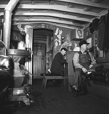 Freight Train Operations 1943 Art Print