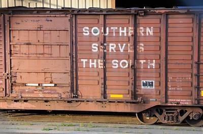 Photograph - Freight Train-southern Serves The South by Bradford Martin