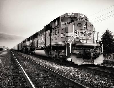 Freight Train Art Print by Tom Druin