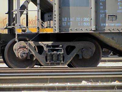 Photograph - Freight Train Wheels 1 by Anita Burgermeister