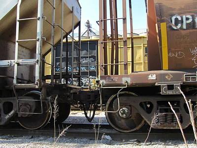 Photograph - Freight Train Wheels 10 by Anita Burgermeister