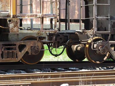 Photograph - Freight Train Wheels 13 by Anita Burgermeister