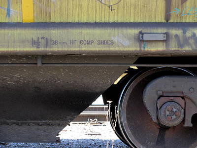 Photograph - Freight Train Wheels 4 by Anita Burgermeister