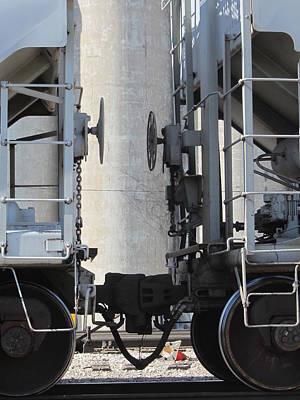 Photograph - Freight Train Wheels 5 by Anita Burgermeister