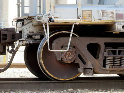 Photograph - Freight Train Wheels 6 by Anita Burgermeister