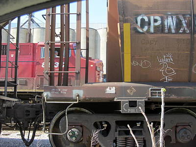 Bath Time Rights Managed Images - Freight Train Wheels 7 Royalty-Free Image by Anita Burgermeister
