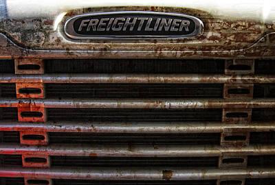 Freightliner Highway King Art Print by Daniel Hagerman
