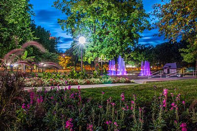Photograph - Freimann Square At Twilight by Gene Sherrill