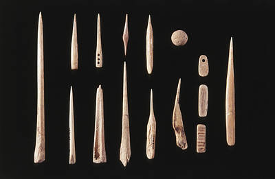 Photograph - Fremont Culture Clay Tools by Francois Gohier