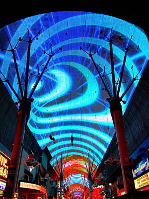 Photograph - Fremont Street Experience Four by Randall Weidner
