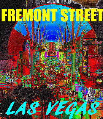 Painting - Fremont Street Poster Work C by David Lee Thompson