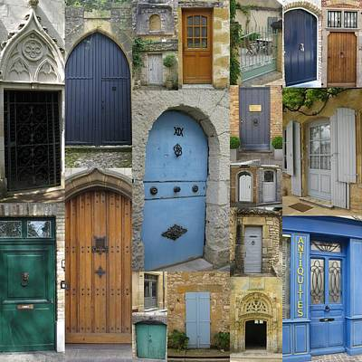 French And Belgian Doors Art Print by Cathy Jacobs