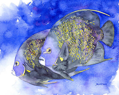 Painting - French Angelfish by Pauline Jacobson
