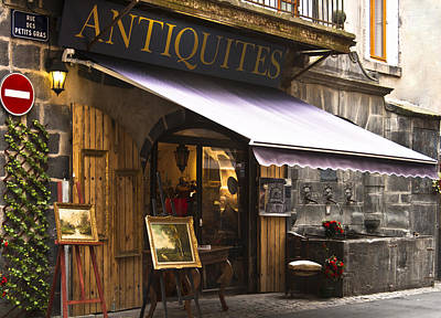 French Antique Store In Clermont Ferrand  Art Print by Georgia Fowler