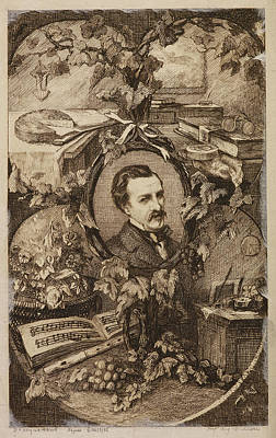 French Author Edmond Duranty Art Print by British Library