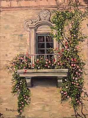 Painting - French Balcony by Radoslav Nedelchev