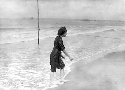 Turn Of The Century Photograph - French Bathing Suit Fashion by Underwood Archives