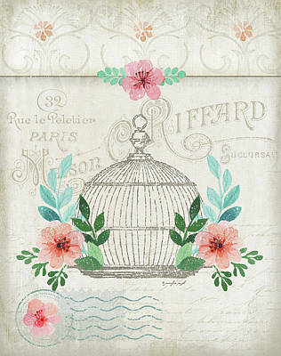 Cage Painting - French Birdcage by Jennifer Pugh
