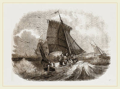 Angling Drawing - French Boat Angling For Mackerel by Litz Collection