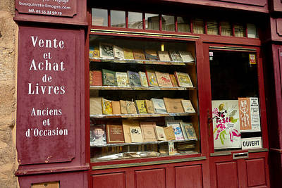 Photograph - French Bookshop by Jenny Setchell