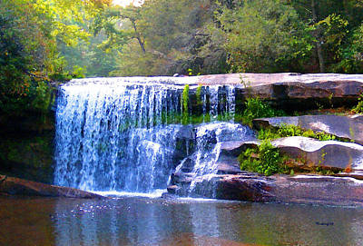 Photograph - French Broad River Waterfall Filtered by Duane McCullough